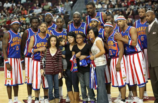 The Harlem Globetrotters visited Las Vegas and put on a show for the Orleans Arena crowd Wednesday. The Globetrotters have not lost  a game since January 5, 1971.