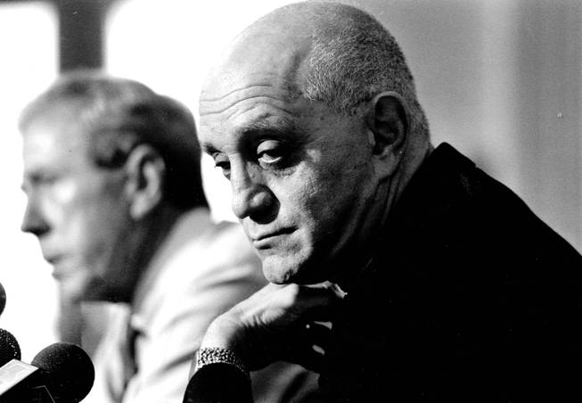 Jerry Tarkanian during his final press conference as coach of ...