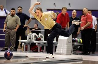 Walter Ray Williams Jr., 49, practices Monday at Cashman Center. In addition to topping the Professional Bowlers Association in all-time wins and earnings, Williams is an ace at horseshoes and golf.