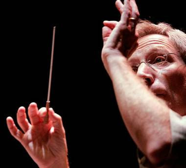 David Itkin, shown conducting the Las Vegas Philharmonic.