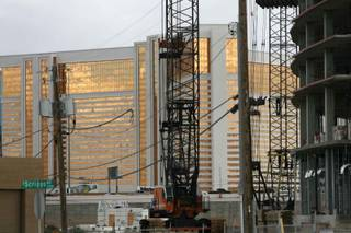 Wyndham Vacation Ownership said Tuesday it's suspending construction on its high-profile Desert Blue resort near the Rio.