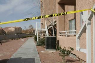 North Las Vegas police say a man and a woman were found dead Friday morning after a domestic dispute and standoff with officers.