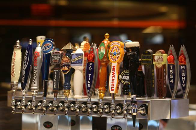 The Beer Bar boasts an impressive number of beers on tap at the M Resort  in Henderson Thursday, February 19, 2009. The new hotel and casino property, under construction at St. Rose Parkway and Las Vegas Boulevard South, is scheduled to open March 1.