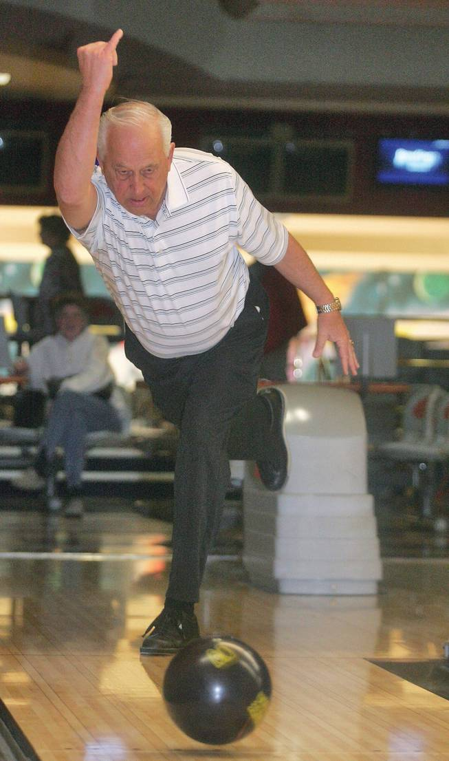 Sun City Summerlin resident, Jay Zornow, practices bowling at Suncoast Bowling Center. Zornow has bowled three 300-games in the last month, including an 800-plus series.