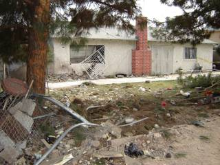 A 17-year-old driver was killed when he crashed a car into a house at 1823 Dartmouth in northeast Las Vegas.