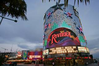 A view of the Riviera on the Las Vegas Strip on Dec. 26, 2007.