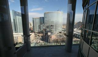 MGM Mirage's $9 billion CityCenter project, encompassing seven buildings, continues rising Thursday, Feb. 5, 2009.