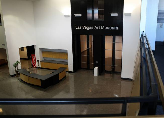The lobby of the Las Vegas Art Museum, 9600 West Sahara Ave., is empty Tuesday, March 10, 2009. The museum was forced to close when it couldn't raise enough money in the economic downturn.