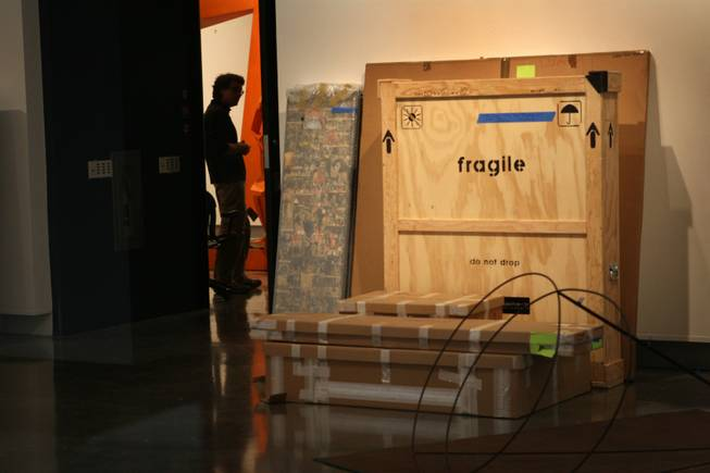 Exhibits are boxed up Tuesday in the main gallery of the Las Vegas Art Museum, at 9600 West Sahara Ave. Location was one of the things working against it, Clark County Museum Administrator Mark Hall-Patton says, as tourists mostly prefer the Strip's attractions to cultural institutions.