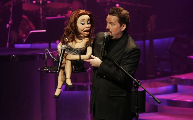Terry Fator performs during his opening night in March 2009 at The Mirage.