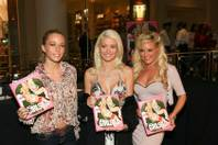 "The ""Girls Next Door"" Kendra Wilkinson, Holly Madison and Bridget Marquardt in Caesars Palace."