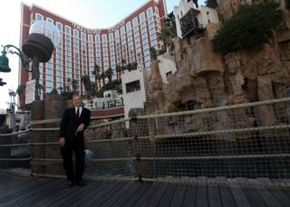 New Treasure Island owner Phil Ruffin stands in front of his resort Friday, March 20, 2009 on the Las Vegas Strip. Ruffin took over the property earlier that morning after purchasing it from MGM Mirage for $775 million.