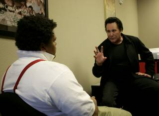 Wayne Newton makes a special appearance at CineVegas Clubhouse and talks with members of the Boys & Girls Clubs of Las Vegas about acting on Tuesday at the CineVegas office in Henderson.