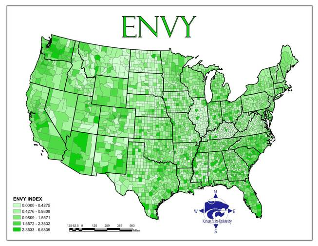 "Geographers from Kansas State University did a study called ""The Spatial Distribution of the Seven Deadly Sins