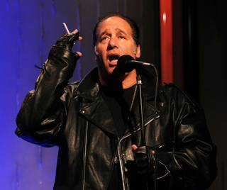 Andrew Dice Clay at Sushi Samba's SugarCane Live! lounge in the Palazzo.