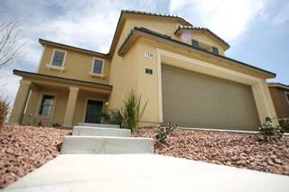 Model homes from the KB Home Open Series at the Manchester Park community in northwest Las Vegas.