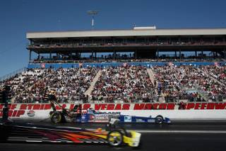 Race action Sunday at the 10th Annual SummitRacing.com NHRA Nationals at The Strip at the Las Vegas Motor Speedway.
