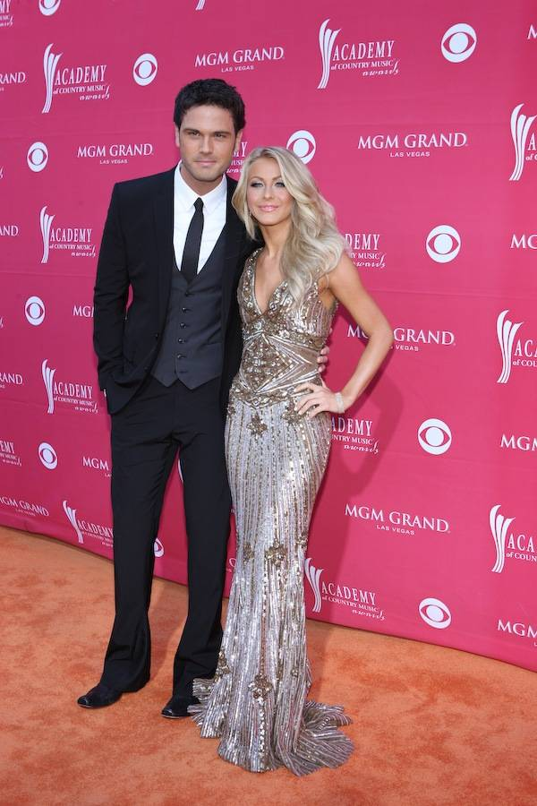 Chuck Wicks and Julianne Hough at the Academy of Country Music Awards at MGM Grand Garden Arena in Las Vegas on April 5, 2009.