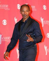Jamie Foxx at the Academy of Country Music Awards at MGM Grand Garden Arena in Las Vegas on April 5, 2009.