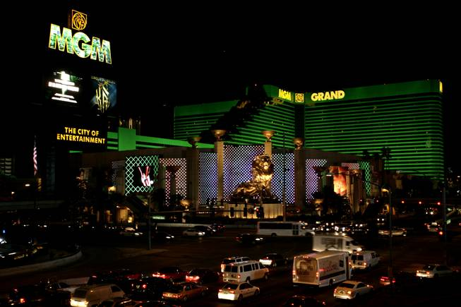 The MGM Grand on the Las Vegas Strip.