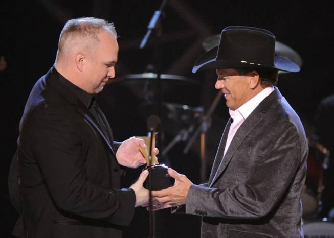 Garth Brooks and George Strait