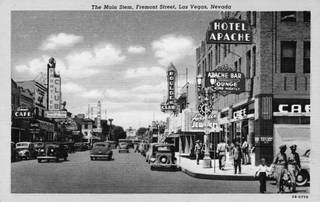 Fremont Street looking west, early 1940s