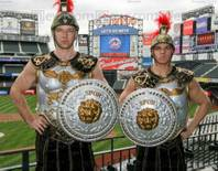 Centurion Guards from Caesars Atlantic City have a new home at Citi Field as Harrah's Entertainment becomes a Mets signature partner. The new Caesars Club located at Citi Field opens officially on April 13.