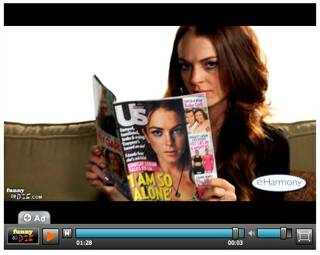 Lindsay Lohan pretends to read a copy of US Weekly featuring herself on the cover during a video she posted to the Web site FunnyOrDie.com earlier this week.