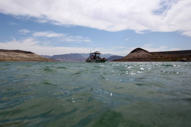 Fifth-grade students from Sandy Searles Miller Elementary School go out on the lake Thursday during their participation in Lake Mead National Recreation Area's C.R.E.W. program (Citizens Removing and Eliminating Waste).