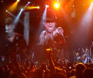 Kenny Chesney performs at The Joint in the Hard Rock Hotel and Casino Saturday.