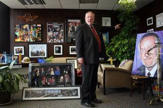 Mayor Oscar Goodman gives a tour of his office in downtown Las Vegas on Monday, April 27, 2009.