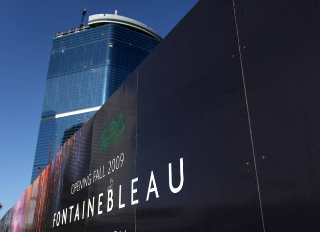 The Fontainebleau Resort on the north end of the Las Vegas Strip is shown under construction in April.