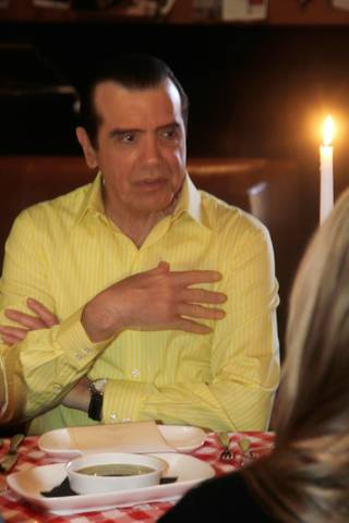 Chazz Palminteri at First Food & Bar in the Palazzo on April 29, 2010.