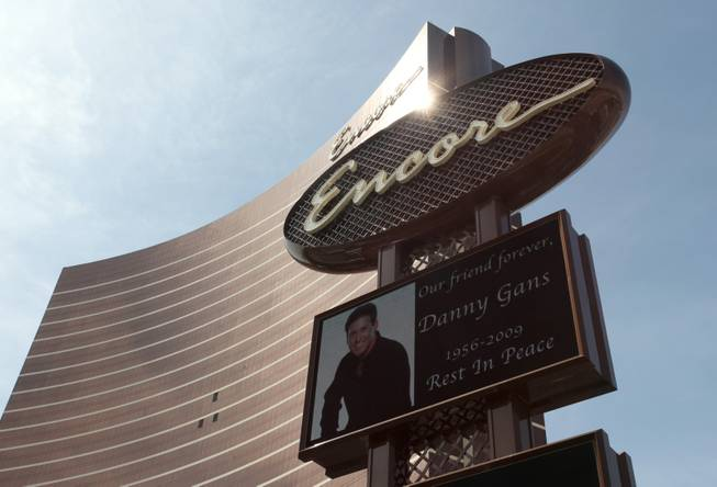 The sign outside the Encore on Friday carried a message in remembrance of Danny Gans.
