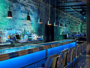 The main bar at Hakkasan Las Vegas at MGM Grand.