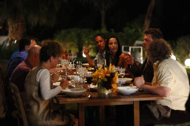 "Guest chefs and regular judges enjoyed an al fresco evening of home cooked cuisine at the ""Top Chef"" house."