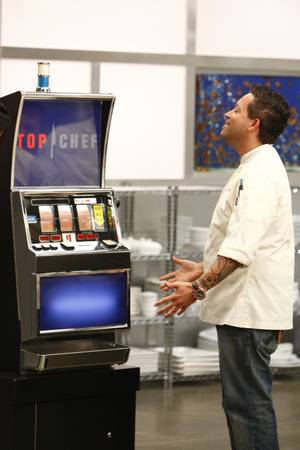 The Quickfire slot machine gave the chef'testants three words each to inspire their dishes.