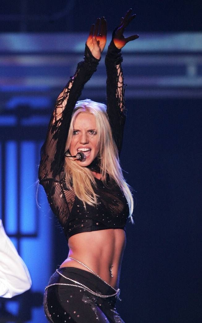 "Katie Murdock portrays Britney Spears during ""Legends in Concert"" on Tuesday, May 19, 2009 at Harrah's."