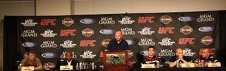 The UFC 98 press conference was held Thursday at the MGM Grand Garden Arena.