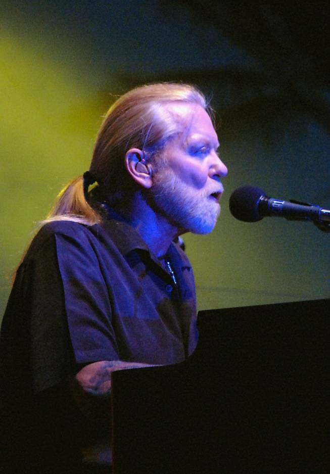 Gregg Allman of the Allman Brothers Band performs at Red Rock Station Casino, Las Vegas on Sunday, May 24, 2009.