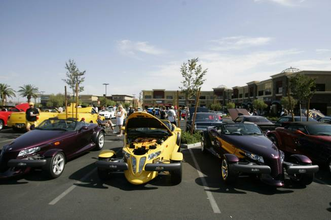 Exotic cars are on display every Saturday at the Sansone Park Place.