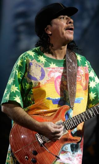 Carlos Santana performs live during the first night of new show
