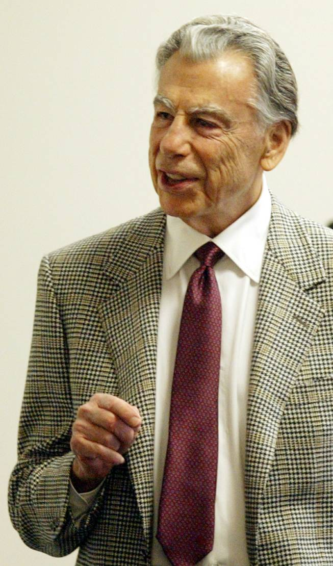Billionaire investor Kirk Kerkorian is pictured in Las Vegas in this Feb. 24, 2005, file photo.