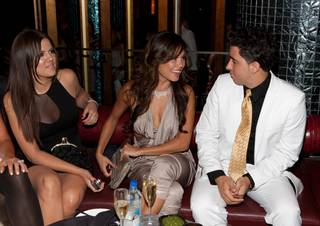 Khloe Kardashian, Vanessa Mannilo and Colby O'Donis were at the 'Spring Bling' party Saturday, May 30, 2009, at the Palazzo in Las Vegas. The party was held as a benefit in support of the Lili Claire Foundation, an autism nonprofit.
