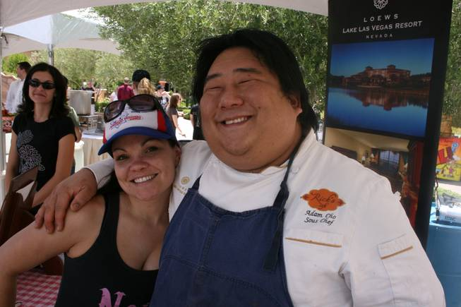 Chef Adam Cho of Rick's Cafe at Loews Lake Las Vegas Resort took part in this year's Silver State Chili Cook-off Saturday, June 9, 2009, at Lake Las Vegas.