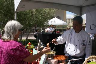 Chef Rodney Ignacio of Casino MonteLago served up a green chicken chili with cactus Saturday, June 6, 2009, at the Silver State Regional Chili Cook-off at Lake Las Vegas.