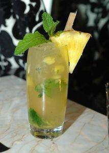 A pineapple mojito at Society Cafe's mojito bar in the Encore.