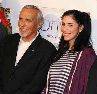 Dennis Hopper and Sarah Silverman at CHI Theater in Planet Hollywood.