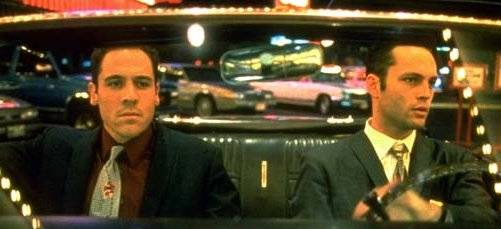 John Favreau, left, and Vince Vaughn in <i>Swingers<i>.
