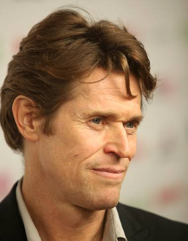 Willem Dafoe clocked his first visit to Las Vegas yesterday for the 11th Annual CineVegas Film Festival where he received the Vanguard Actor Award.